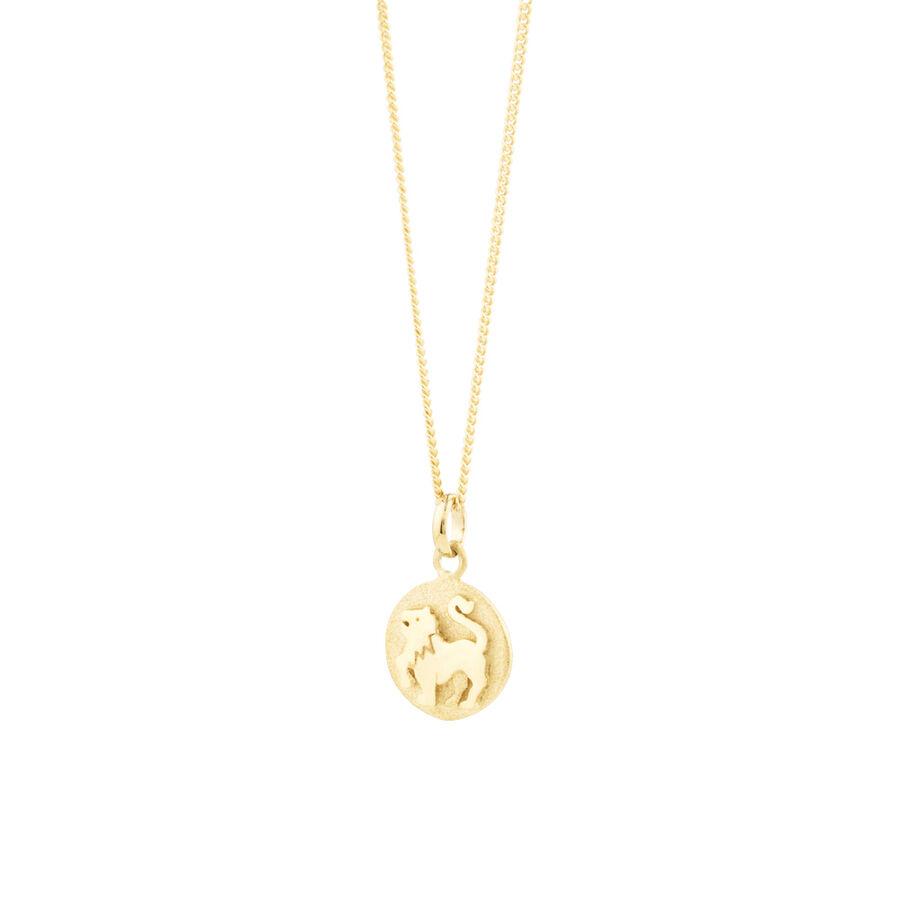 Leo Zodiac Pendant In 10kt Yellow Gold