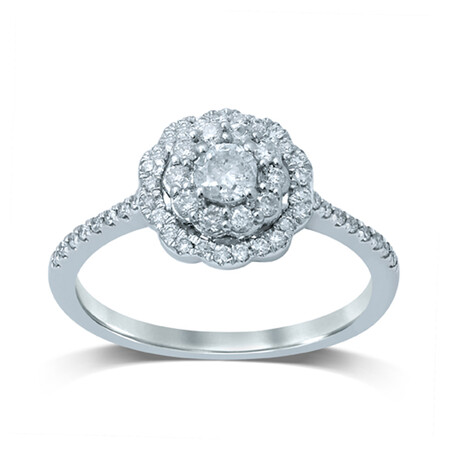 Ring with 1/2 Carat TW of Diamonds in 14kt White Gold