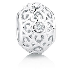 Diamond Set Filigree Charm