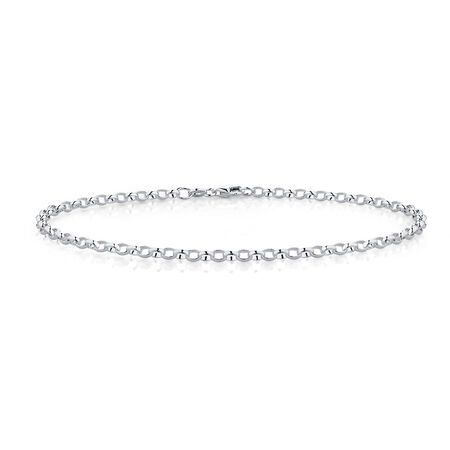 """26cm (10.5"""") Rolo Anklet in Sterling Silver"""