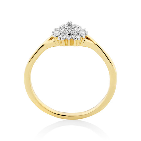 Evermore Promise Ring with 0.10 Carat TW of Diamonds in 10kt Yellow Gold