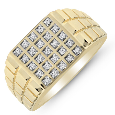 Five Row Ring with 0.25 Carat TW of Diamonds in 10kt Yellow Gold