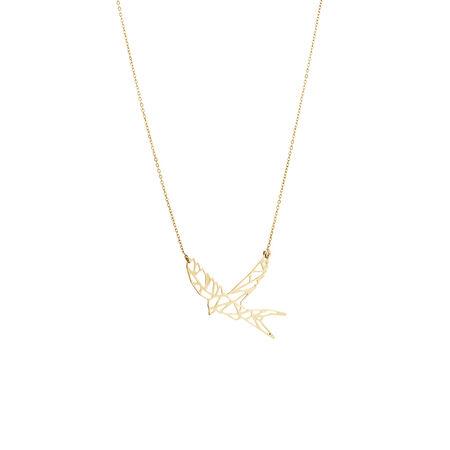 Flying Bird Pendant in 10kt Yellow Gold
