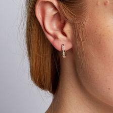 Hoop Earrings with 1/4 Carat TW of Diamonds in 10kt Yellow Gold