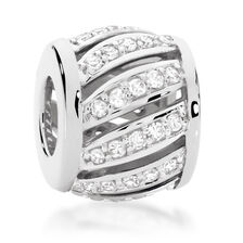 1/4 Carat TW Diamond Patterned Charm