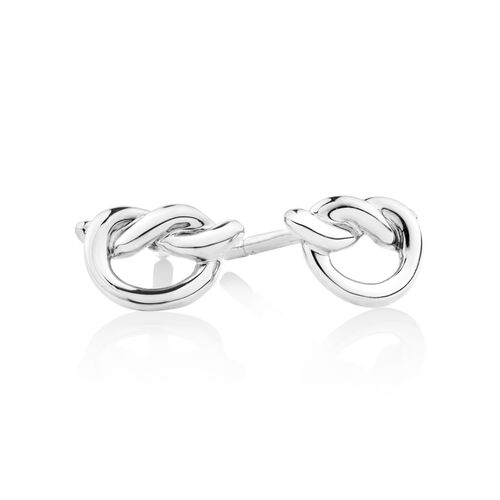 Knot Stud Earrings in Sterling Silver