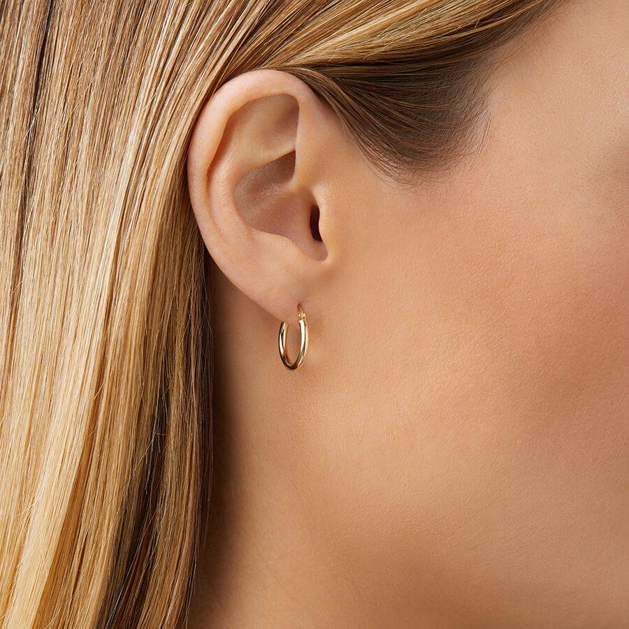 14mm Hoop Earrings in 10kt Yellow Gold