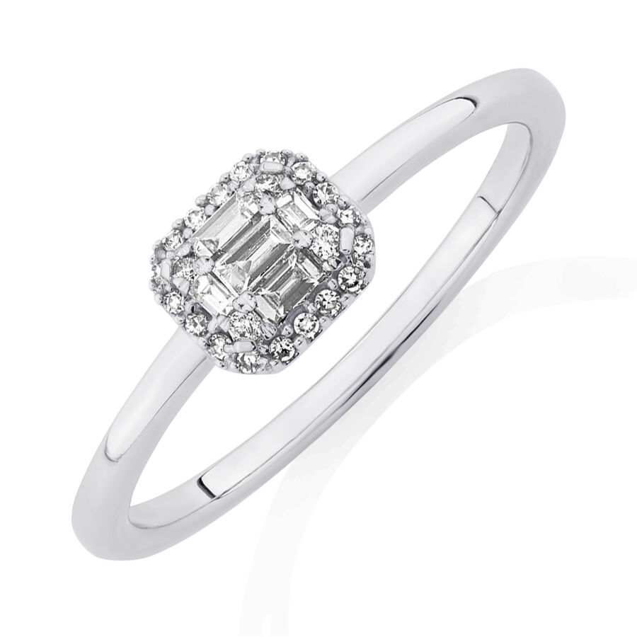 Evermore Promise Ring with 0.15 Carat TW of Diamonds in 10kt White Gold
