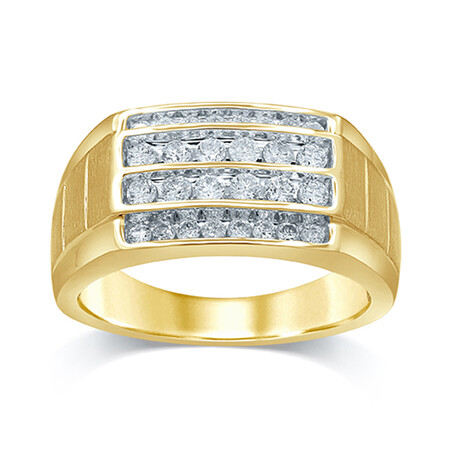 Ring with 0.75 Carat TW of Diamonds in 10kt Yellow Gold