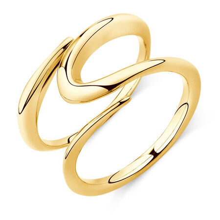 Mark Hill Wide Ring in 10kt Yellow Gold