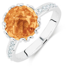 Champagne & White Cubic Zirconia Stack Ring