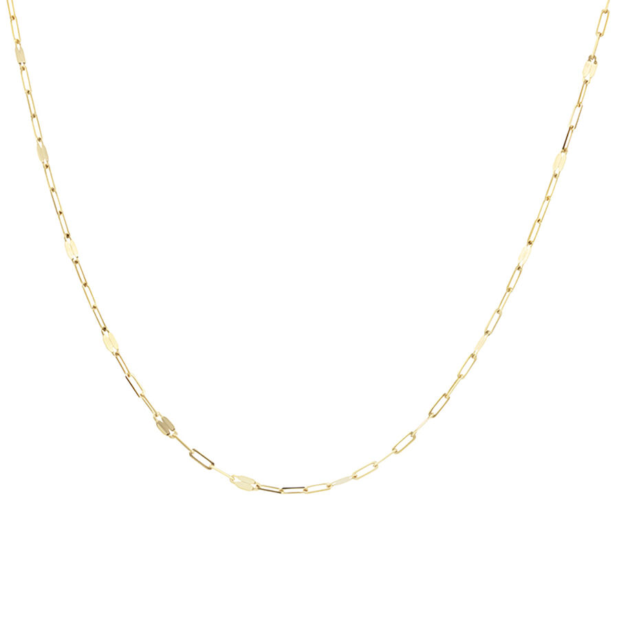 60cm Oval Mirror Cable Chain in 10kt Yellow Gold
