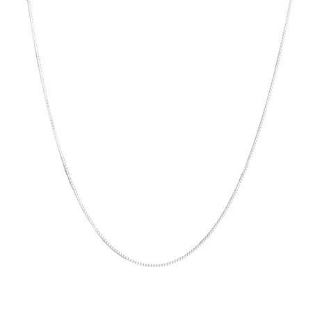 "45cm (18"") Box Chain in 14kt White Gold"
