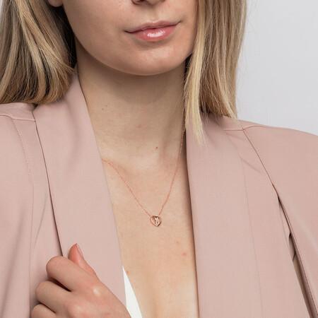 Mini Infinitas Pendant with Diamonds in 10kt Rose Gold