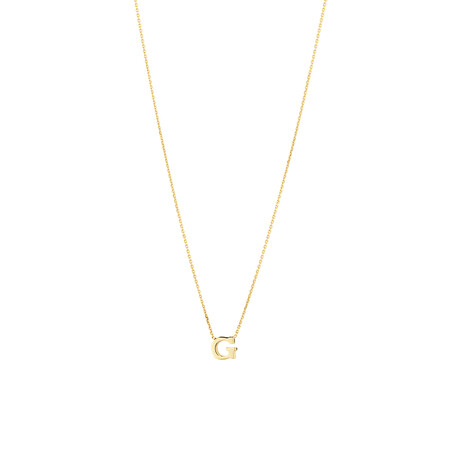 """""""G"""" Initial Necklace in 10kt Yellow Gold"""