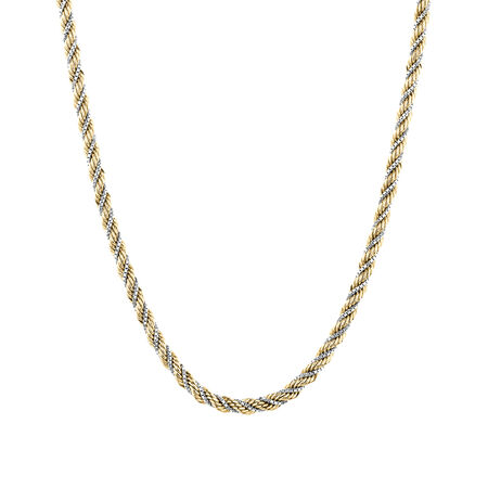 Rope Chain in 10kt Yellow & White Gold