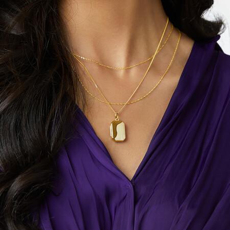 Octagonal Locket Pendant in 10kt Yellow Gold