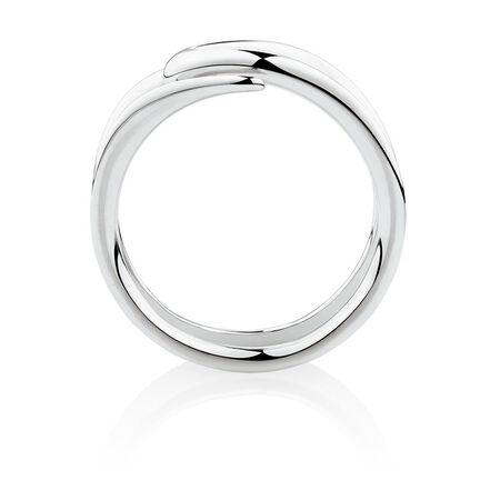 Mark Hill Slim Ring in 10kt White Gold