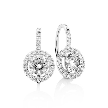 Laboratory-Created 2.05 Carat TW Diamond Earrings in 10ct White Gold