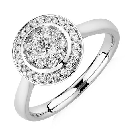 Engagement Ring with 1/2 Carat TW of Diamonds in 10kt White & Rose Gold