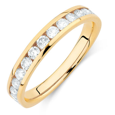 Wedding Band with 3/4 Carat TW of Diamonds in 14kt Yellow Gold