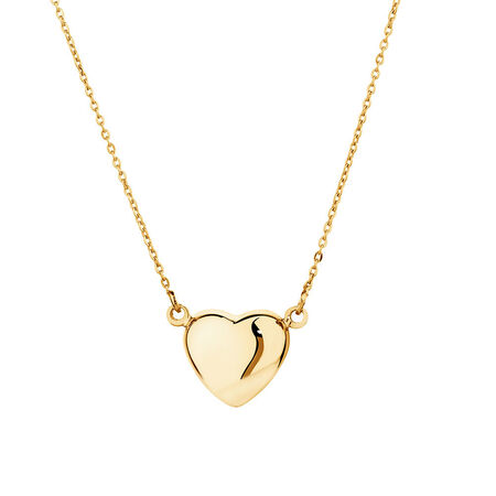 Mini Heart Necklace in 10kt Yellow Gold