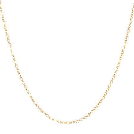 """70cm (20"""") Hollow Rolo Chain in 10kt Yellow Gold"""
