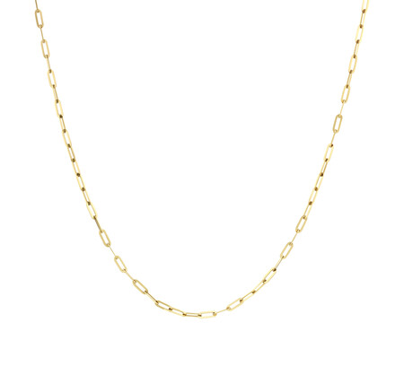 60cm Paperclip Chain in 10kt Yellow Gold
