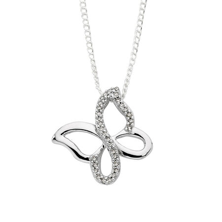 Pendant with Diamonds in 10kt White Gold