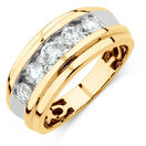 Men's Ring with 1 1/4 Carat TW of Diamonds in 14kt Yellow Gold