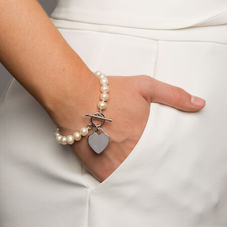 Bracelet with Cultured Freshwater Pearl in Sterling Silver