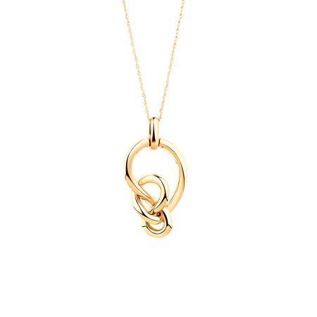 Medium Knots Pendant in 10kt Yellow Gold