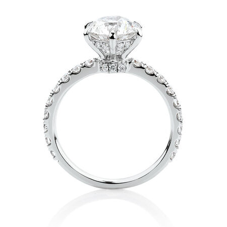 Sir Michael Hill Designer GrandAria Engagement Ring With 2.52 Carat TW Of Diamonds In 14ct White & Rose Gold