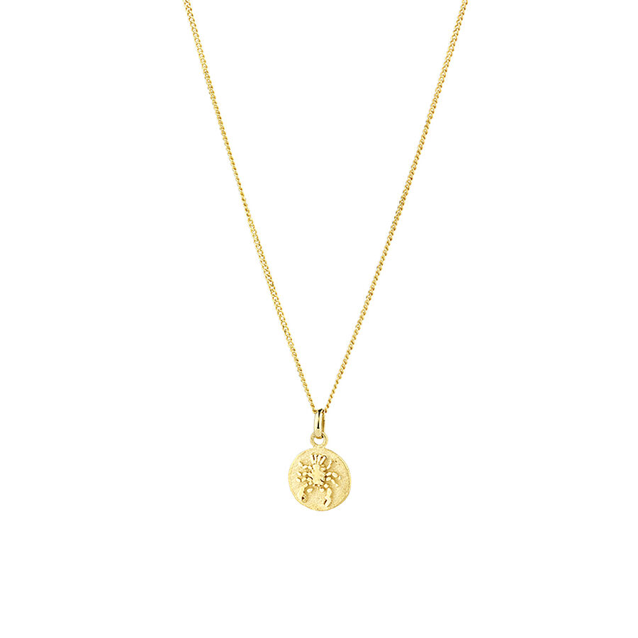 Cancer Zodiac Pendant in 10kt Yellow Gold