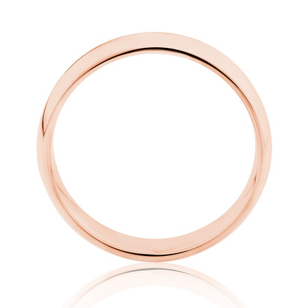High Domed Wedding Band in 10kt Rose Gold