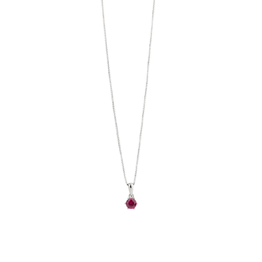 Pendant with Ruby Cubic Zirconia in Sterling Silver