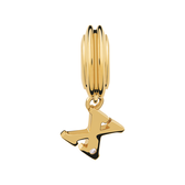 Diamond Set & 10kt Yellow Gold 'X' Charm