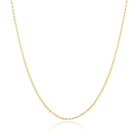 "40cm (16"") Hollow Rolo Chain in 10kt Yellow Gold"