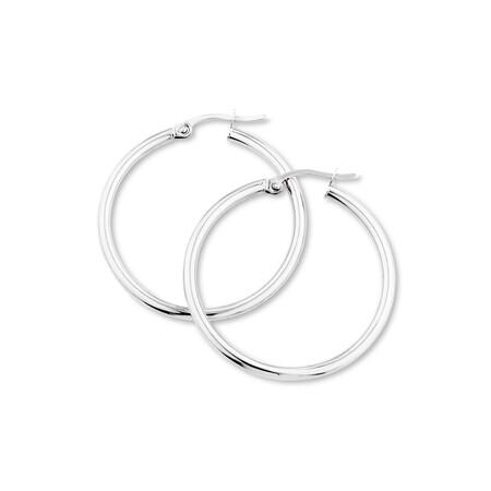 29mm Hoop Earrings in 10kt White Gold