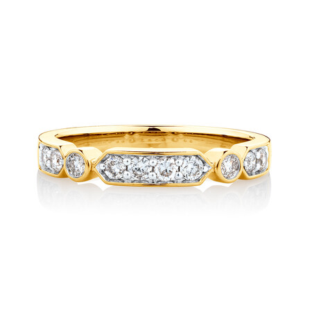 Ring with 1/3 Carat TW of Diamonds in 10kt Yellow Gold