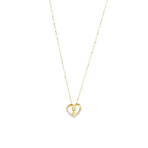 Infinitas Pendant with 0.15 Carat TW of Diamonds in 10kt Yellow Gold