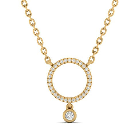 Necklace with Diamonds in 10kt Yellow Gold