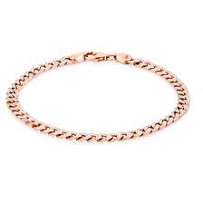 """19cm (7.5"""") Curb Bracelet in 10kt White & Rose Gold"""