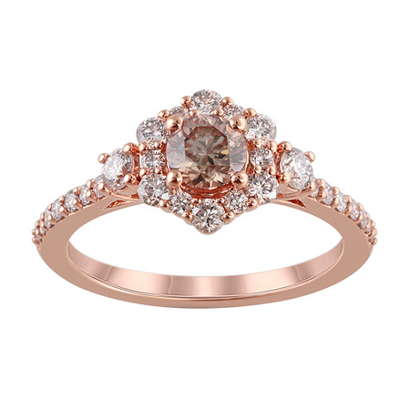 Ring with 1.10 Carat TW of Diamonds in 14kt Rose Gold