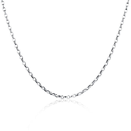 "55cm (22"") Oval Rolo Chain in Sterling Silver"