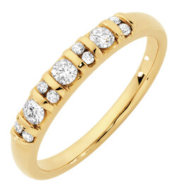 Wedding Band with 1/3 Carat TW of Diamonds in 10kt Yellow Gold