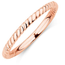 10kt Rose Gold Rope Stack Ring