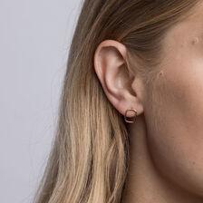 Open Rectangle Stud Earrings in 10kt Yellow Gold