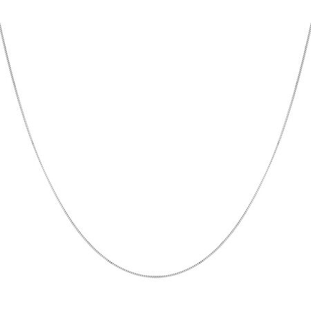 "60cm (20"") Box Chain in 10kt White Gold"