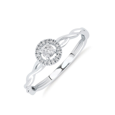 Promise Ring with 0.12 Carat TW of Diamonds in 10kt White Gold